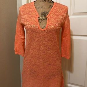 Other - Swimsuit coverup - coral and gold
